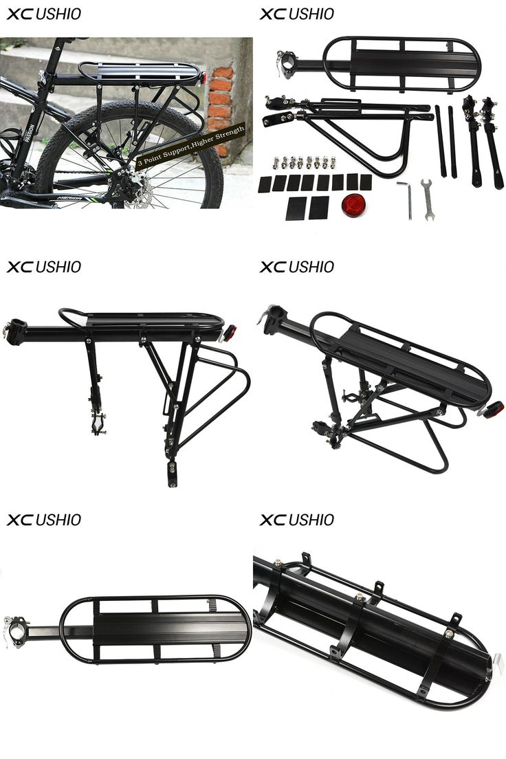 [Visit to Buy] XC USHIO Mountain Bike Bicycle Cargo Racks Aluminum Bicycle Luggage Carrier MTB Bicycle Mountain Bike Road Bikes Rear Rack Black #Advertisement