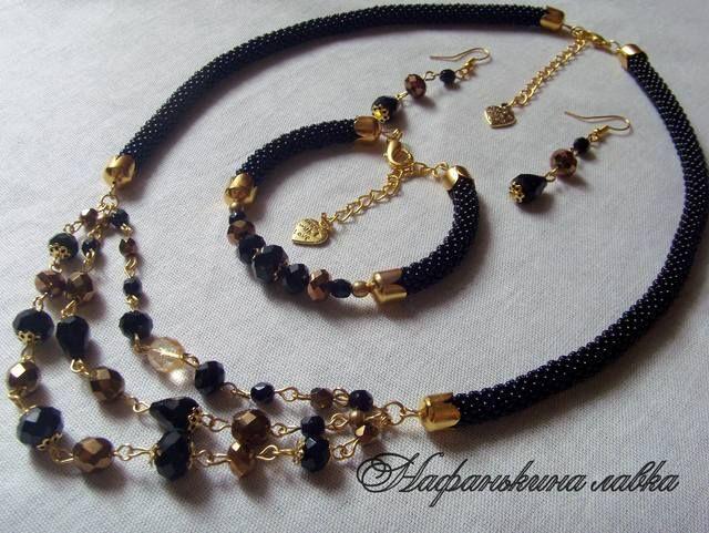 Черно-золотой комплект 3