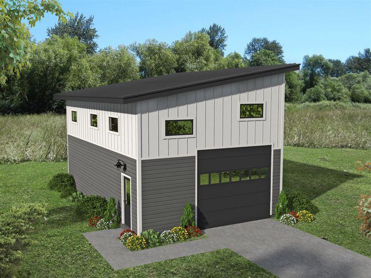 062g 0172 Modern Style Garage Plan With Boat Storage 22 X36 Garage Plan Garage Plans Architectural Design House Plans