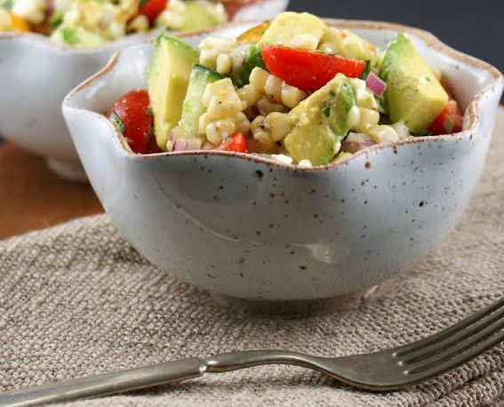 ... Monday: Avocado and Grilled Corn Salad with Cilantro Vinaigrette