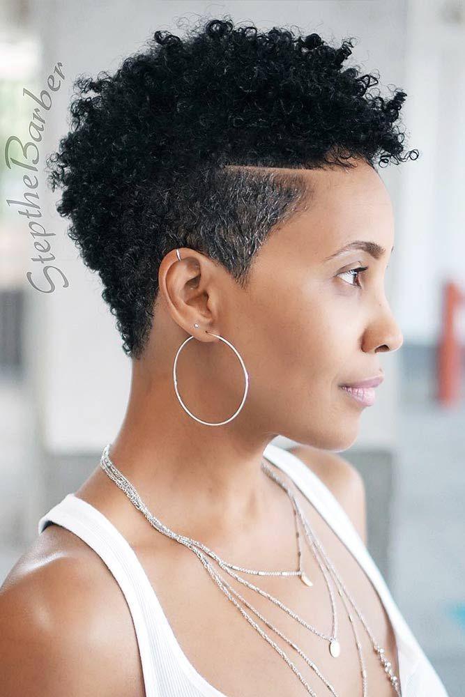 18 Idees De Coupe De Cheveux Avec Differentes Coiffures Cheveux Moyens Coupe De Cheveux Natural Hair Styles Short Natural Hair Styles Tapered Natural Hair