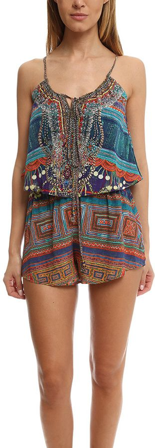 Get Sexy Boho Chic for summer in this Camilla Drawstring Playsuit