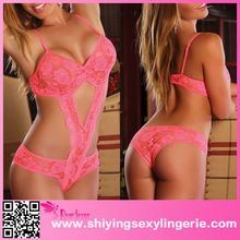 Cut out Neon Pink Lace Teddy japanese mature women sexy lingerie 2016  Best Seller follow this link http://shopingayo.space
