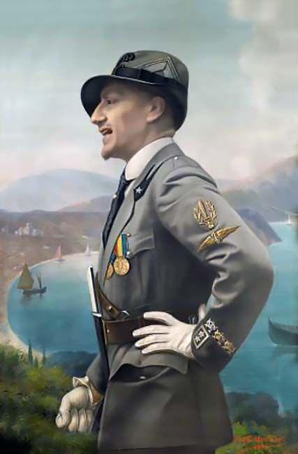 """""""Ritratto di Gabriele d'Annunzio in uniforme da Ardito"""", Enrico Marchiani"""