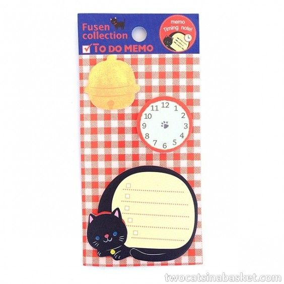 Memo Timing Note Cat - TWO CATS IN A BASKET