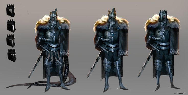 Knight Concept. The Fur Lined Cloak Is A Neat Look