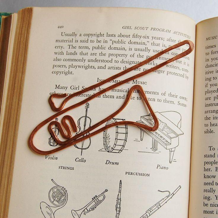 Kupferposaune Lesezeichen Handgefertigt Aus Gerättertem