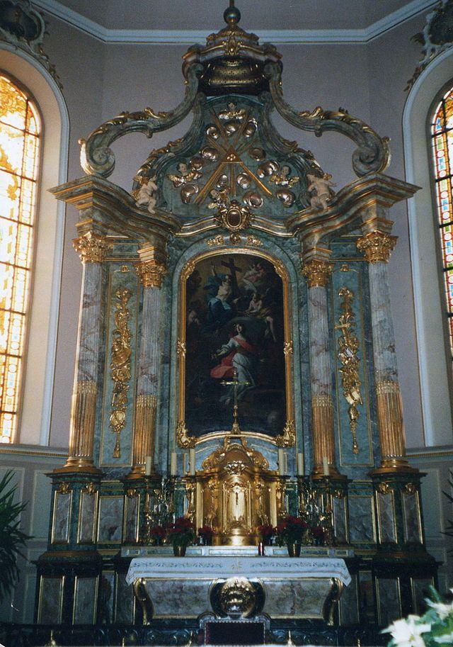 Maître-autel de l'église de Geispolsheim - Alsace