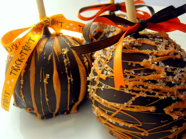 Fall & Thanksgiving Caramel Chocolate Covered Apple. $7.50, via Etsy.