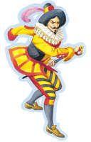 Capitan Fracassa.Era il più famoso dei capitani della Commedia dell'Arte (altri celebri sono Scaramuccia, Coviello, Capitan Spaventa, Capitan Rinoceronte), tipi sempre coperti di ridicolo per soddisfare la ribellione del popolo italiano a quel tempo dominato dagli spagnoli. I capitani, infatti, si esprimevano in un buffo linguaggio spagnolesco. Fracassa era il soldato di ventura fanfarone, spavaldo e insieme pauroso.