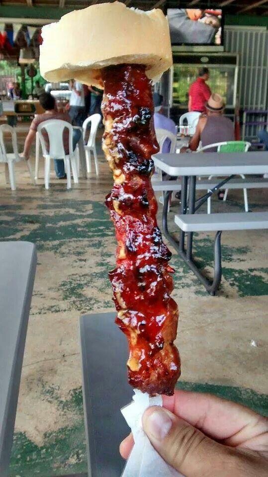 Pincho de pollo.....desde Puerto Rico.....mmmmmm....