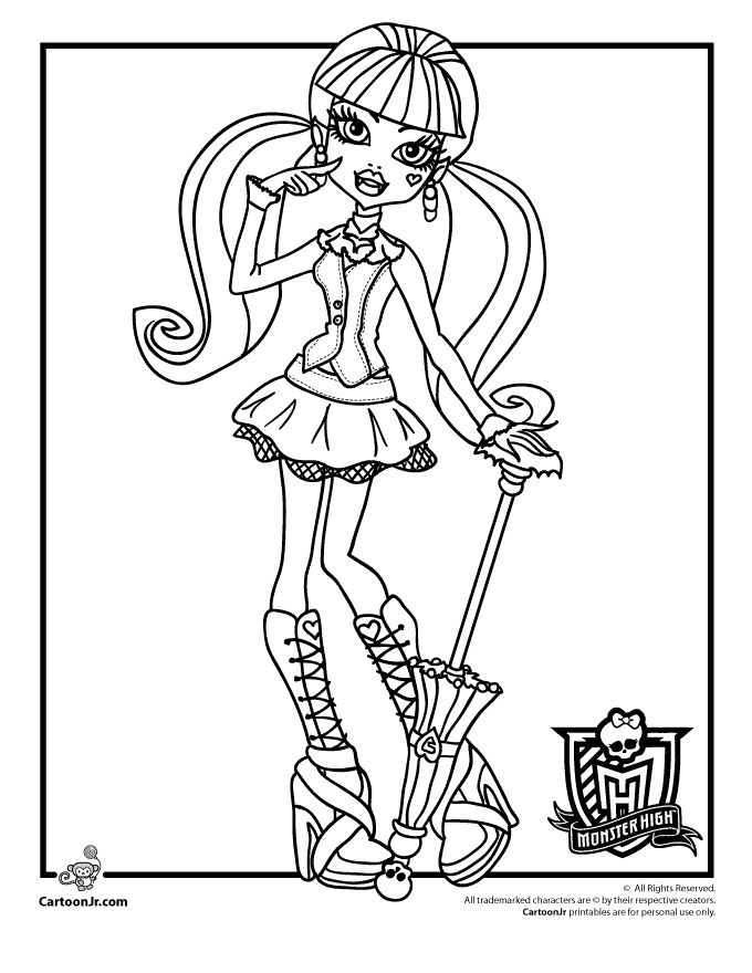 Printable coloring pages monster high