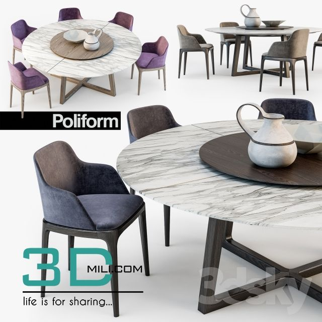 Table Chair Archives 3d Mili Download 3d Model Free 3d