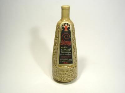 Butelka porcelitowa ze starą etykietą. MIROSTOWICE