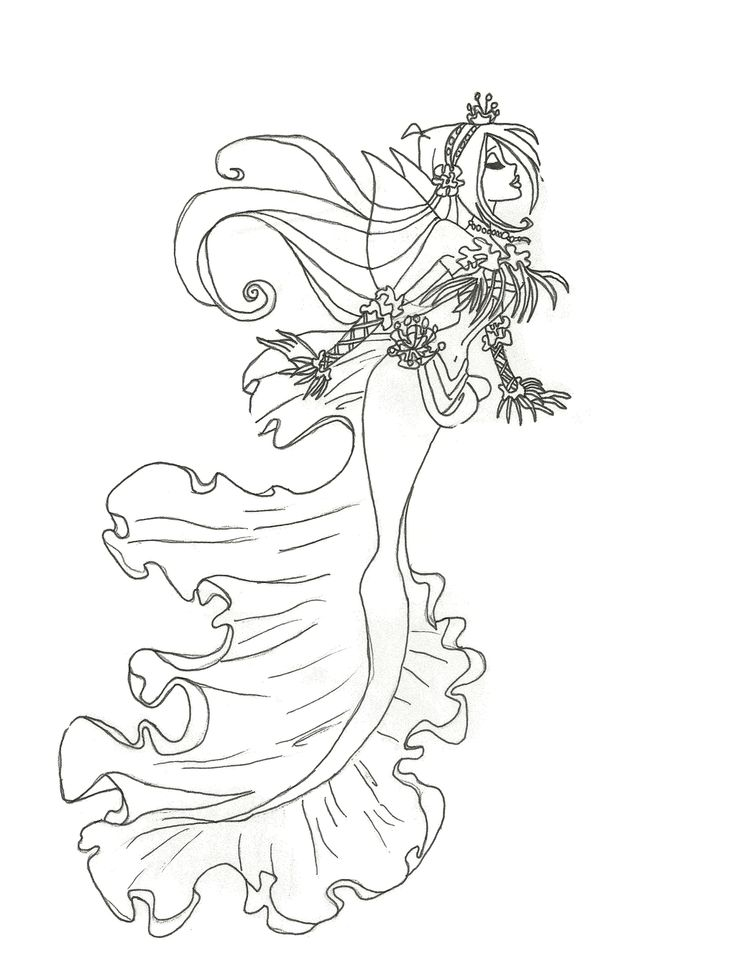 Winx Mermaid Coloring Pages To Print And Download For