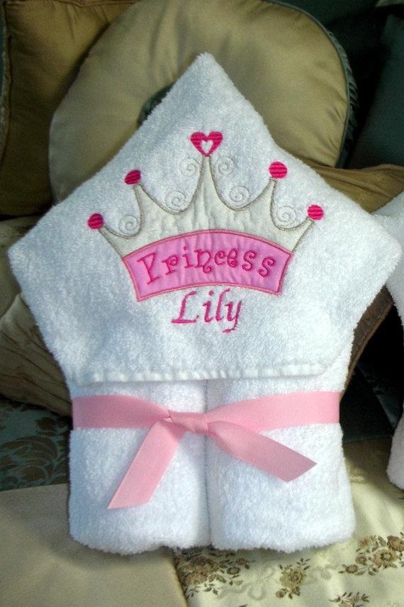 Princess Hooded Bath/Beach Full Size Towel by StitchesandSparkles, $24.00
