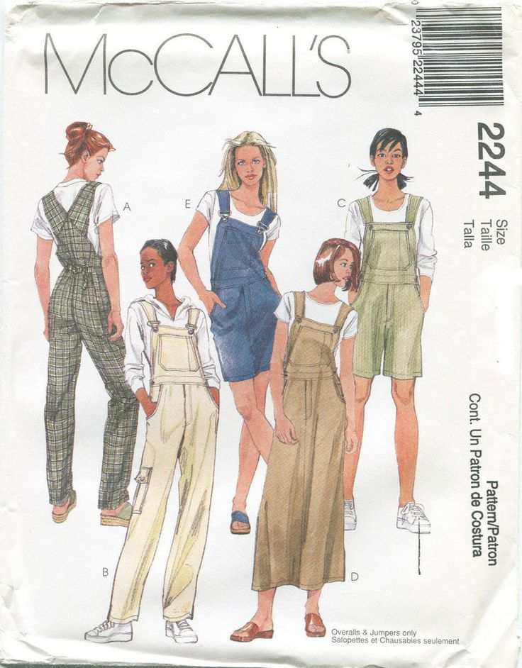 Misses Clothes Clothing Sewing Patterns ~ Size 12 14 16 Denim Overalls  #McCalls