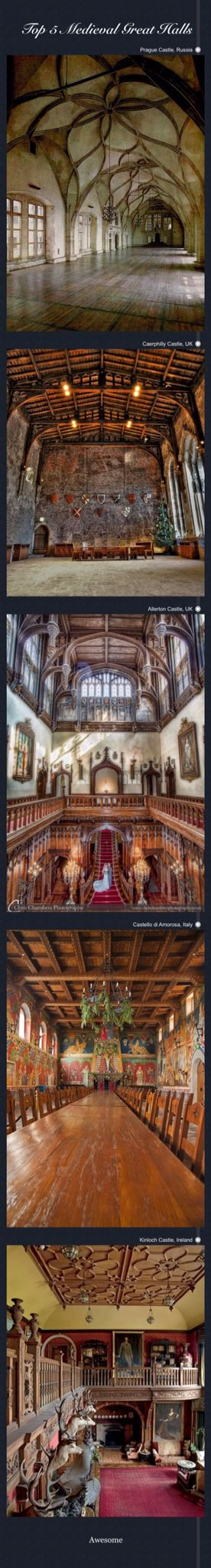 Top 5 Great Halls