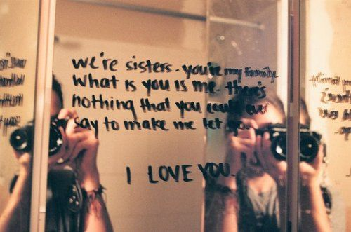 Quotes About Sisters Leaving : Sister quotes tumblr ink without you