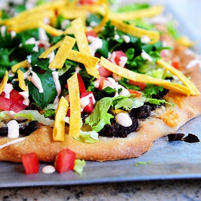 Taco Pizza - this was amazing! I want to run away with the pioneer woman!