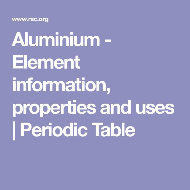 Aluminium     - Element information, properties and uses | Periodic Table