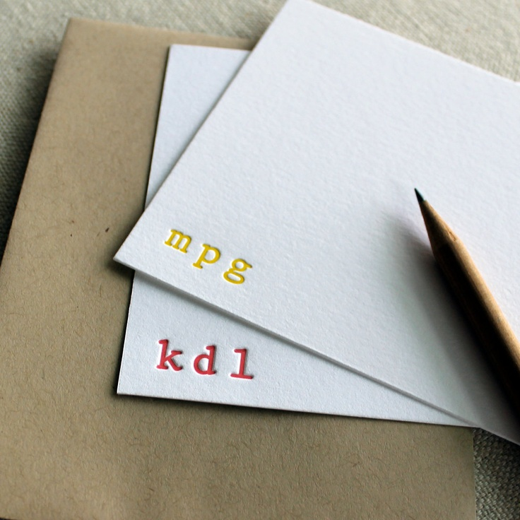 monogram wedding envelope seals sticker%0A Custom letterpress monogram notecards  set of      modern text