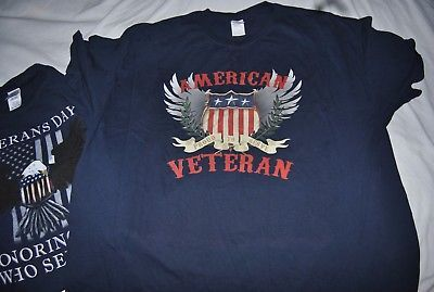 American Veteran and Veteran's day Men's 3XL t shirts, lot of two
