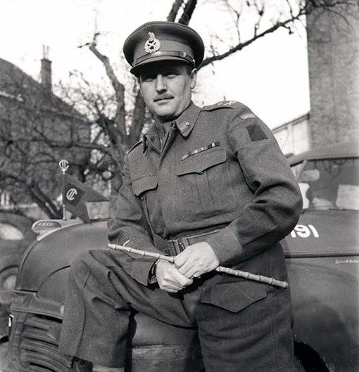 Major-General A.B. Matthews in Nijmegen, the Netherlands, on November 15th, 1944 Photograph by Ken Bell. Department of National Defence / National Archives of Canada, PA-138399