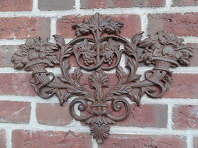Simple wandornament ornament wanddeko gusseisen braun mauer haus hauswand garten in M bel u Wohnen Dekoration