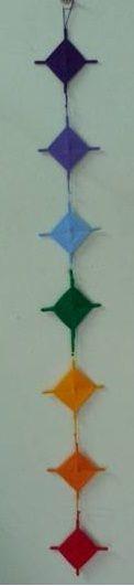 tira de mandalas con los colores de los chakras