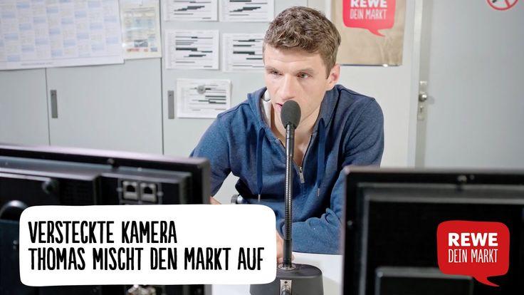 Versteckte Kamera war gestern: In unserem REWE Supermarkt sorgt Nationalspieler Thomas Müller für ordentlich Wirbel am Mikrofon der Markt-Zentrale! Da bleibt...