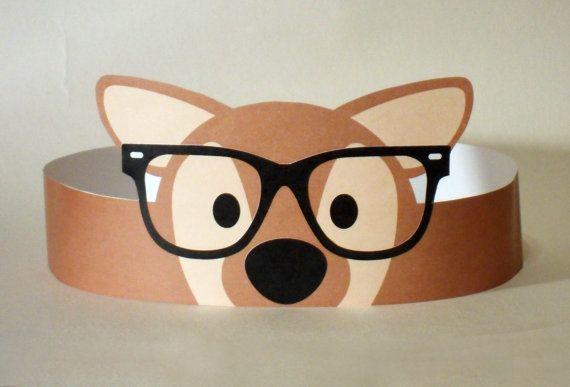 Hipster Deer Paper Crown  Printable by PutACrownOnIt on Etsy, $2.00