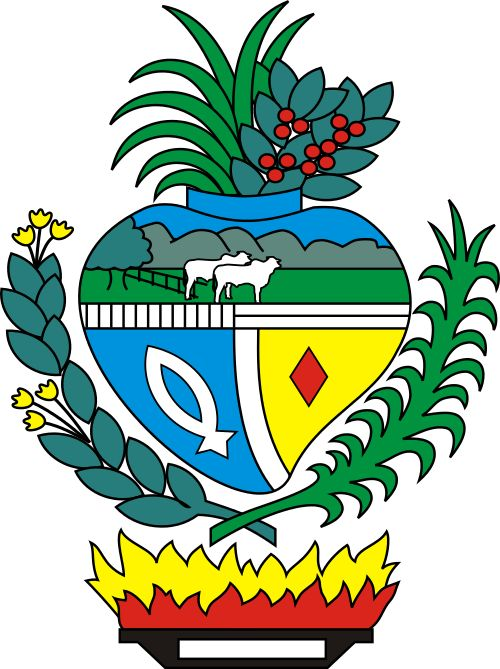 """COA of Goiás is a state of Brazil, located in the central part of the country. The name Goiás (formerly, Goyaz) comes from the name of an indigenous community. The original word seems to have been guaiá, a compound of gua e iá, meaning """"the same person"""" or """"people of the same origin."""" Neighboring states are (from north clockwise) Tocantins, Bahia, Minas Gerais, the Federal District, Mato Grosso do Sul and Mato Grosso."""