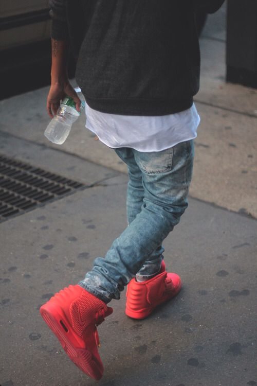 red nike shoes outfit tumblr boy 949008
