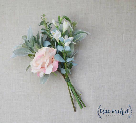 Bridesmaid Bouquet Boho Wedding Flowers Silk Flowers Etsy Boho Wedding Flowers Flower Bouquet Wedding Artificial Flowers Wedding
