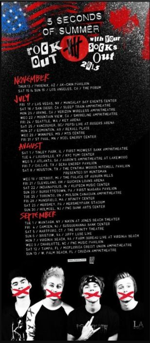 Tour dates for 5SOS!! Tour dates for 5SOS!! tHEY ANNOUNCED A NORTH AMERICAN TOUR IM CHOKING ITS FINALLY HAPPENING GUYS!!!! I AM FREAKING OUT I JUSt SCREAMED!!