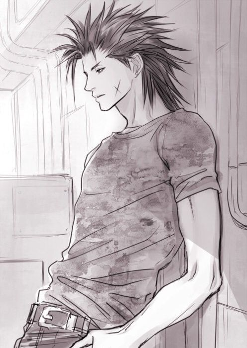 Zack Fair - this makes me sad, cause you see someone who was so full of energy, and happiness, look so serious, and sad :'(