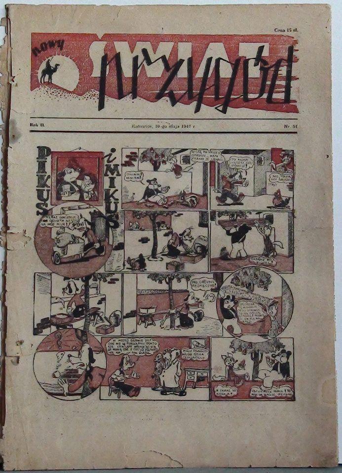 """Tygodnik """"Nowy Świat Przygód"""" - 1947 r. #MUZEUMKOMIKSU"""