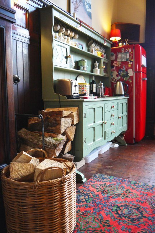 Love the colors - especially that rug!  A Wonderfully Cozy Kitchen in Scotland — Kitchen Spotlight