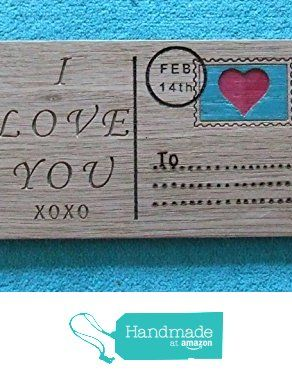 Valentine's day wooden postcard, wall plaque https://www.amazon.co.uk/dp/B01MY48T4F/ref=hnd_sw_r_pi_dp_qMJAybNBDQ4F9 #handmadeatamazon
