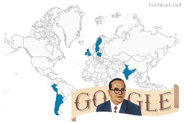 Google has paid its tribute to the Father of Indian Constitution, Dr. B.R. Ambedkar on his 124th birth anniversary by creating a doodle with his caricature.