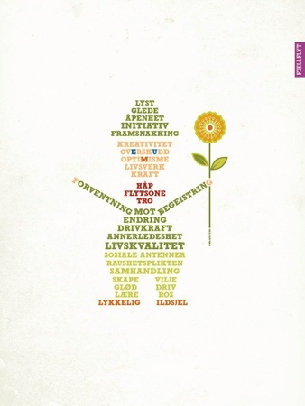 Lykkelig ildsjel plakat/poster
