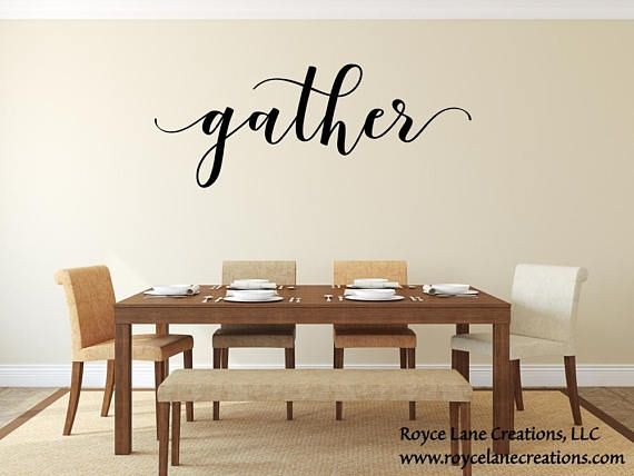Gather Wall Decal Gather DecalGather Wall DecorGather Decor - Wall decals dining room