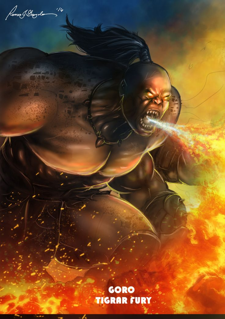 Mortal Kombat X-Goro- Tigrar Fury Variation by Grapiqkad on DeviantArt