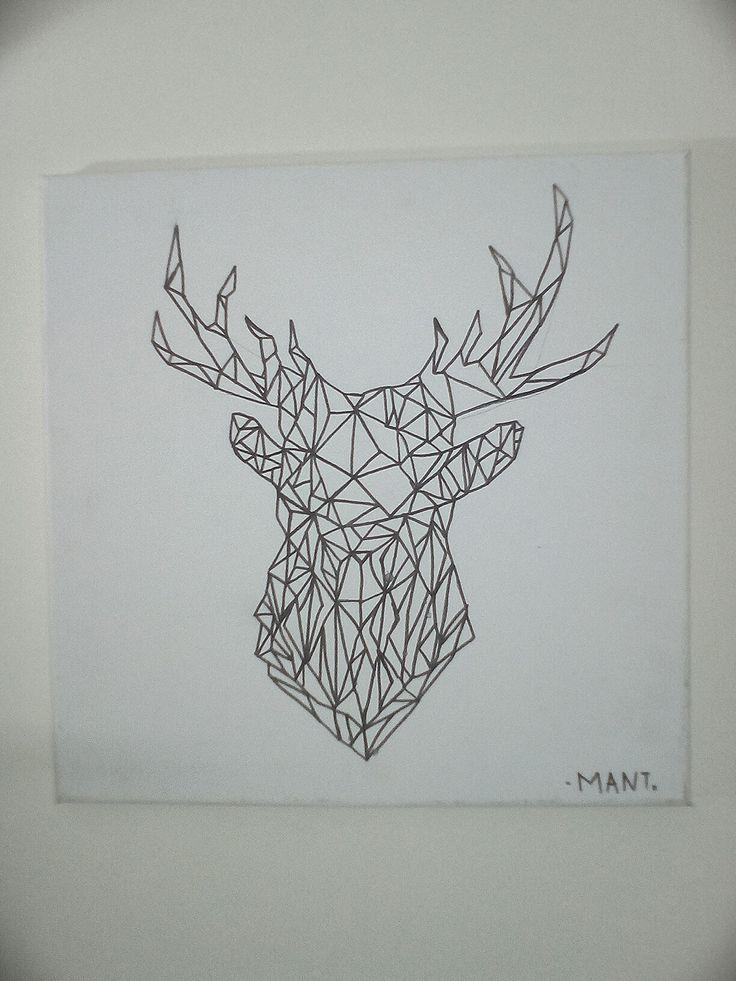 Diy decor: deer canvas painting