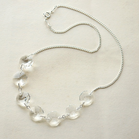 321 best chandelier jewelry images on pinterest jewelry ideas necklace silver crystal chandelier aloadofball Choice Image