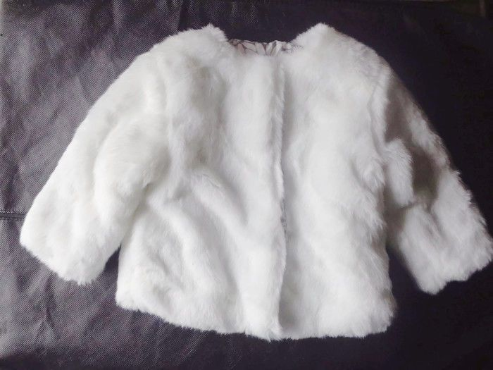 NWT Marks & Spencer Autograph Winter White Ivory Soft Faux Fur 9 - 12 M Coat  #MarksandSpencer #Coat #DressyHoliday