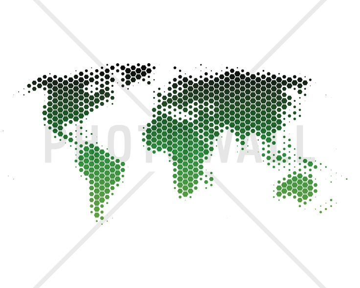 World Map Metal Sheet - Green - Fototapeter & Tapeter - Photowall