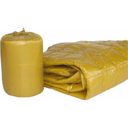 50 inch x 70 inch Puff Ultra Light Indoor/Outdoor Nylon Throw with Compact Travel Bag, Gold