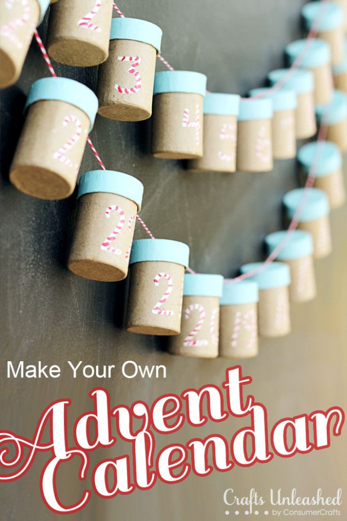 DIY CRAFT ** Toilet paper rolls ** Why not use a toilet roll Make Your Own Advent Calendar - CraftsUnleashed.com